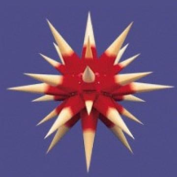 Herrnhuter Innenstern - roter Kern, gelbe Spitzen 40 cm